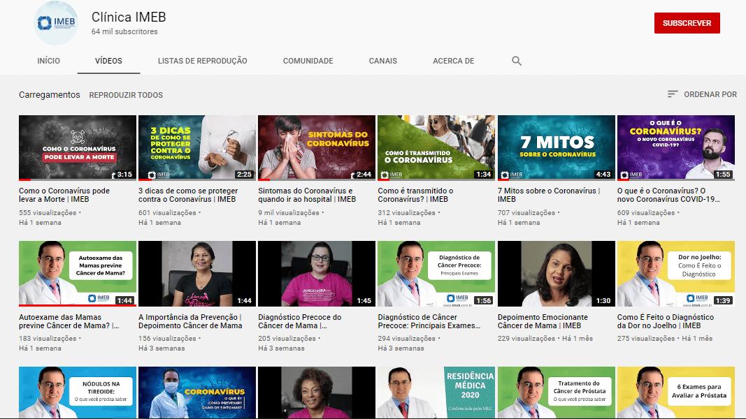 youtube clínica imeb imagens médicas de brasília