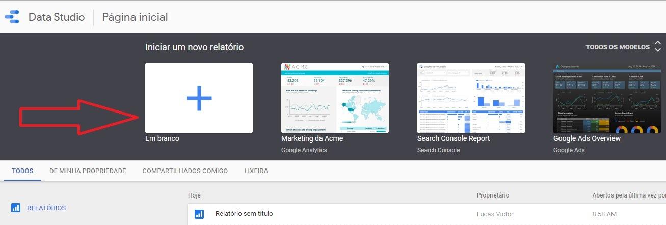 google data studio como criar indicadores