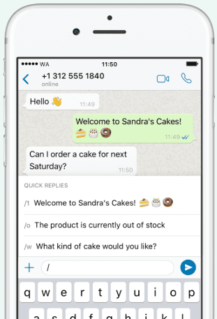 respostas rápidas whatsapp business