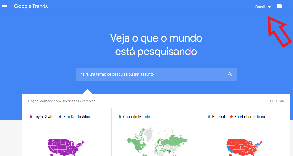 google trends home página inicial