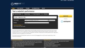 ferramentas para medir velocidade do site - webpagetest
